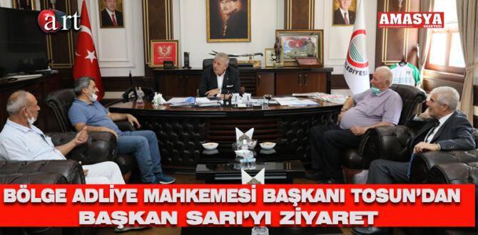 Bölge Adliye Mahkemesi Başkanı Tosun'dan Başkan Sarı'ya ziyaret