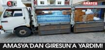Amasya'dan Giresun'a yardım!