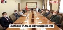 İl Tarım Üst Kurul Toplantısı, Vali Masatlı'nın Başkanlığında Yapıldı
