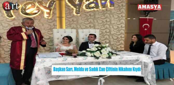 Başkan Sarı, Melda ve Sadık Can Çiftinin Nikahını Kıydı