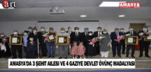 Amasya'da 3 Şehit Ailesi ve 4 Gaziye Devlet Övünç Madalyası