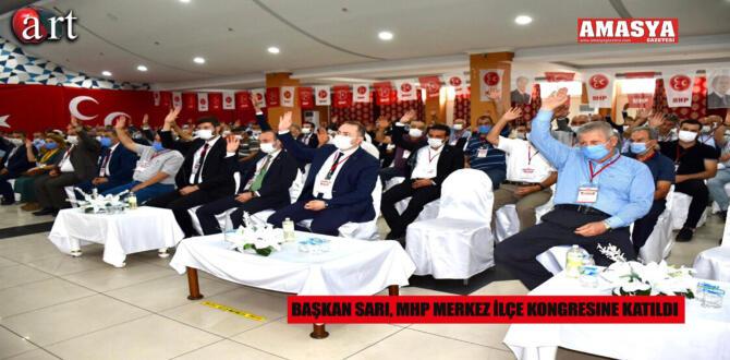 Başkan Sarı, MHP Merkez İlçe Kongresine Katıldı