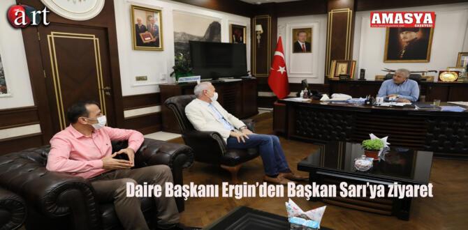 Daire Başkanı Ergin'den Başkan Sarı'ya Ziyaret