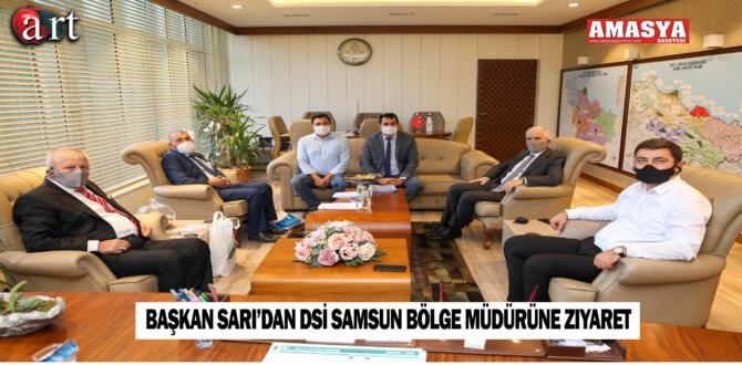 Başkan Sarı'dan DSİ Samsun Bölge Müdürüne Ziyaret