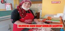 Suluova'da Kadın Kasap Görenleri Şaşırtıyor