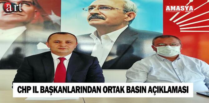 CHP İl Başkanlarından Ortak Basın Açıklaması