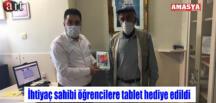 İhtiyaç sahibi öğrencilere tablet hediye edildi