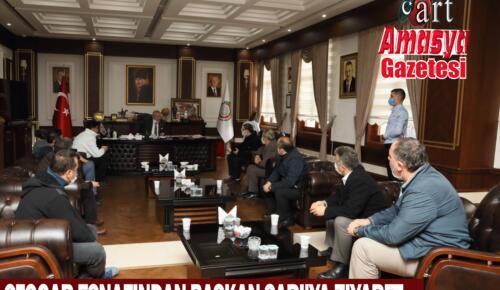 Otogar esnafından Başkan Sarı'ya ziyaret