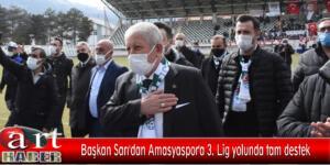 Başkan Sarı'dan Amasyaspor'a 3. Lig yolunda tam destek
