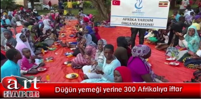 Düğün yemeği yerine 300 Afrikalıya iftar
