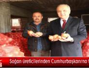 Soğan üreticilerinden Cumhurbaşkanı'na teşekkür
