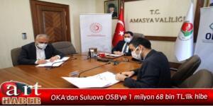 OKA'dan Suluova OSB'ye 1 milyon 68 bin TL'lik hibe