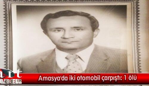 Amasya'da iki otomobil çarpıştı: 1 ölü