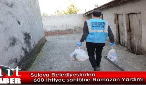 Sulova Belediyesinden 600 İhtiyaç sahibine Ramazan Yardımı