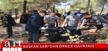 Amasya Belediye Başkanı Mehmet Sarı, personelleri ve 100'den fazla gönüllü, 18 Eylül Dünya Temizlik Günü'nde temizlik yapıp, çöp topladı
