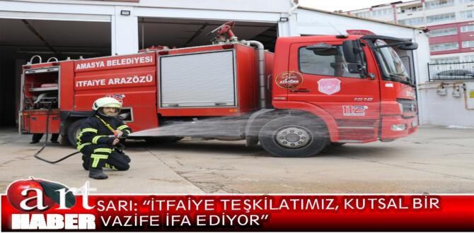 Amasya Belediye Başkanı Mehmet Sarı, 25 Eylül- 1 Ekim tarihlerinde kutlanan itfaiyeciler haftası nedeniyle bir mesaj yayımladı.