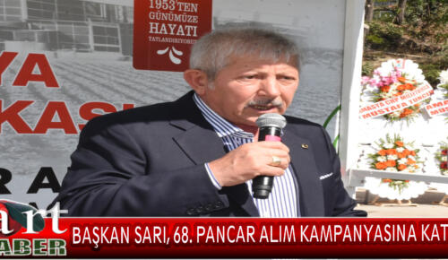 Amasya Belediye Başkanı Mehmet Sarı, Şeker Fabrikası'nın 68'inci pancar alım kampanyası açılış törenine katıldı.