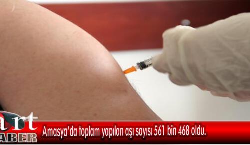 Amasya'da toplam yapılan aşı sayısı 561 bin 468 oldu.